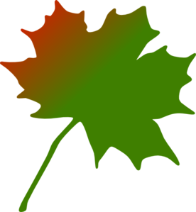 Red Green Maple Leaf Clip Art