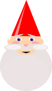 Gnome With Red Hat Clip Art