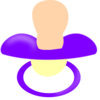 Purple Pacifier Clip Art