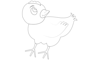 Chicken 001 Vector Coloring Clip Art