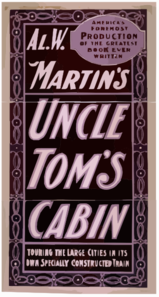 Al. W. Martin S Uncle Tom S Cabin Touring The Large Cities In Its Own Specially Constructed Train. Clip Art