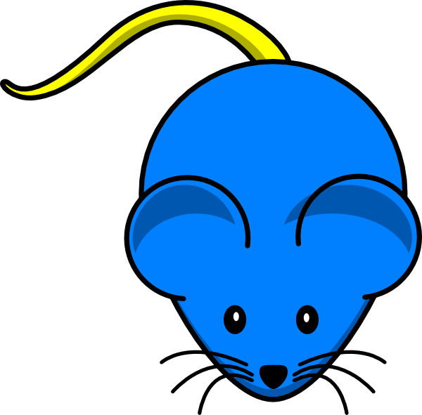 Blue Mouse Yellow Tail Clip Art at Clker.com - vector clip art online ...