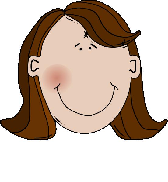 brown hair clip art at clkercom vector clip art online