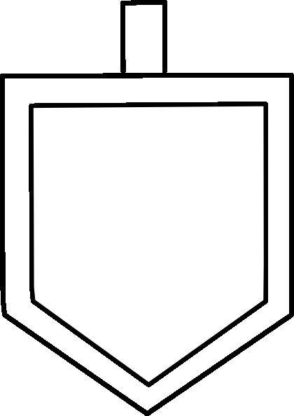 White Dreidel Shape Clip Art at Clker.com - vector clip art online ...