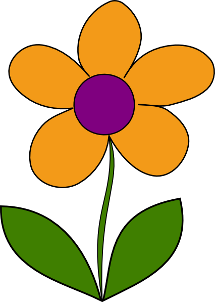orange spring flower clip art at clker com vector clip art online rh clker com spring flowers clipart free spring flowers clip art pre-k