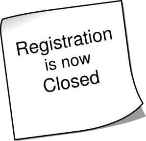 Registration Closed Clip Art
