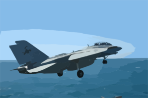An F-14d Tomcat Assigned To The  Tomcatters  Of Fighter Squadron Three One (vf-31) Launches From The Flight Deck Aboard The Aircraft Carrier Uss Abraham Lincoln (cvn 72) Clip Art