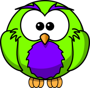 Green And Purple Hoot Clip Art