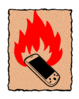 Smart Phone On Fire Clip Art