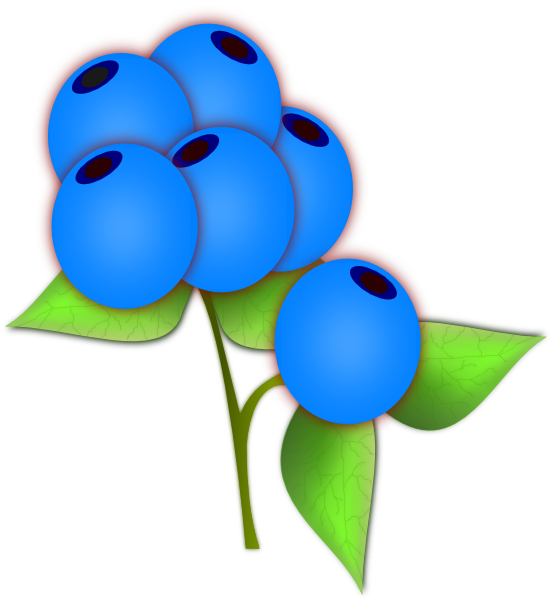 Blueberries Clip Art at Clker.com - vector clip art online ...