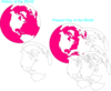 Pink White World Clip Art
