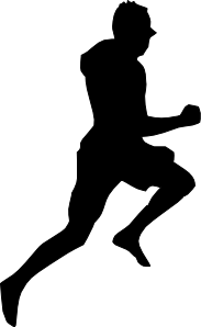 Free Black And White Running Clipart