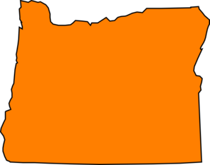 Orange Oregon  Clip Art