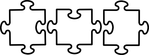 Black And White Jigsaw Clip Art At Clker Com Vector Clip