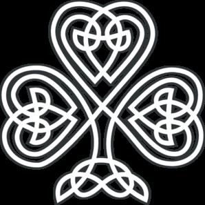 Shamrock Knotwork White Clip Art at Clker.com - vector ...