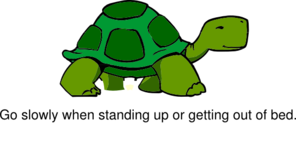Stand Up Slowly - Turtle Clip Art