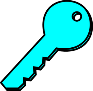 Turquoise Key Clip Art