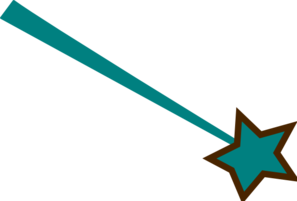 Teal And Brown Star Clip Art