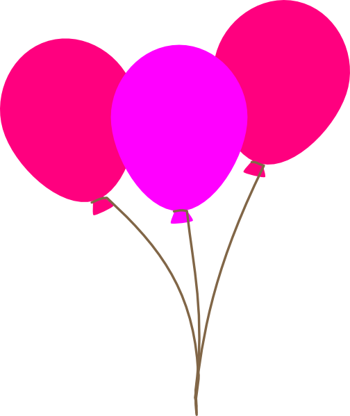 Pink Balloons Clip Art at Clker.com - vector clip art online, royalty ...