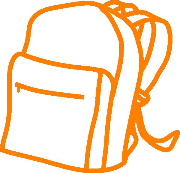 Orange Outline Backpack Clip Art At Clker Com Vector