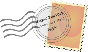 Postal Mark Aug 31 2012 Clip Art