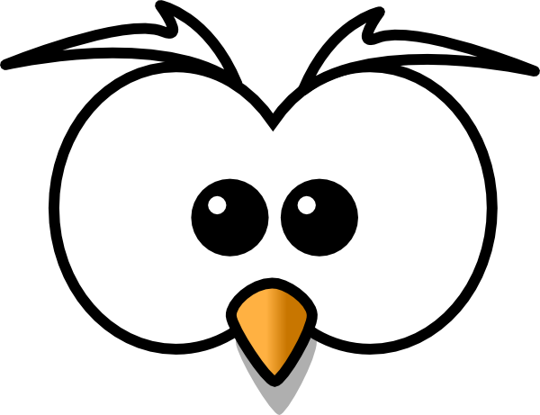 owl face clip art at vector clip art online