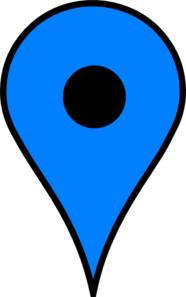 Map Pin Blue Clip Art