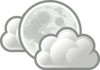 Weather Few Clouds Night Clip Art