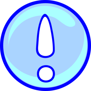 Exclamation Point In Blue Clip Art