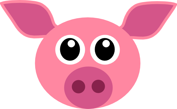 free clip art pink pig - photo #29