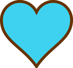 blue and brown heart clip art at clker com vector clip art online