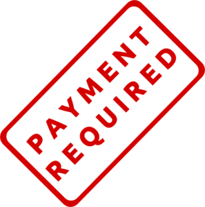 Payment Required Stamp Clip Art