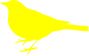 Yellow Bird Silhouette Clip Art