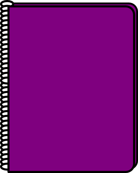 purple notebook clip art at clker com vector clip art online rh clker com clipart notebook and pen clipart notebook page