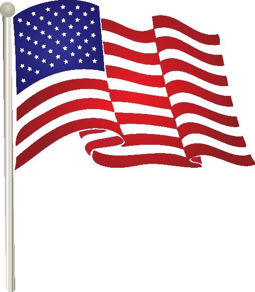 united states waving flag clip art at clkercom vector