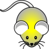 Yellow In Gray Mouse Clip Art