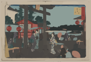 Tenman Shrine At Yushima Clip Art