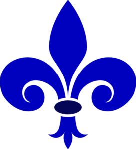 Fluer De Lis Royal Blue Clip Art