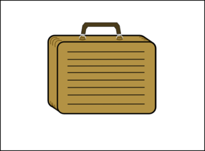 Lined Suitcase With White Background Clip Art