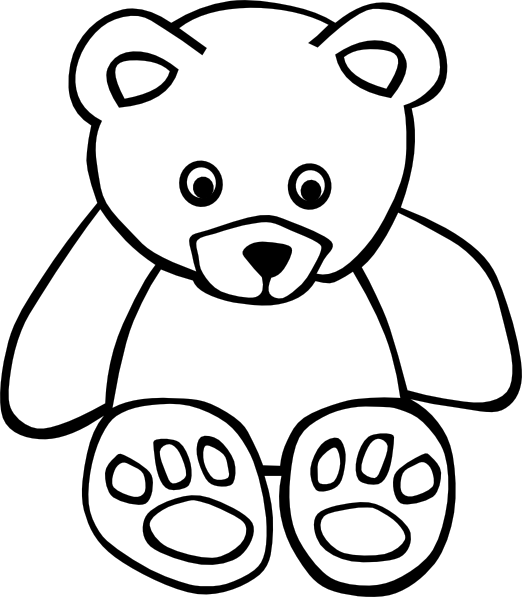 download this image as - Outline Of A Bear