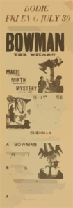 Bowman The Wizard In His New Marvelous Entertainment Of Magic, Mirth, Mystery Clip Art