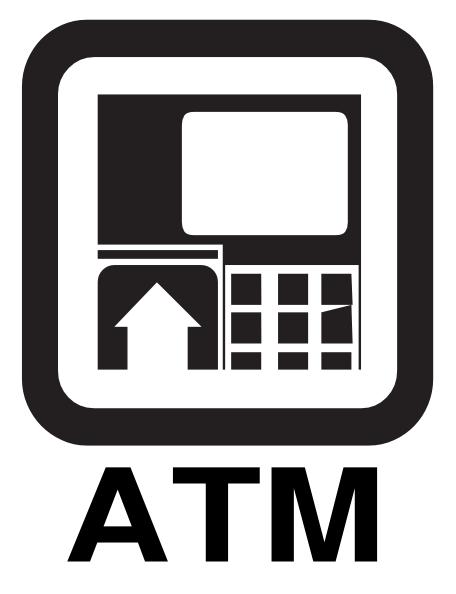 Atm Machine Sign Clip ...