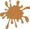 Brown Splat Clip Art