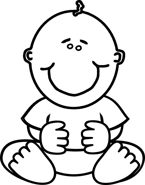 free baby clipart black and white - photo #1