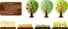 Trees And Crops Clip Art