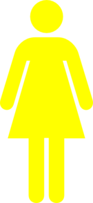 Yellow Female Restroom Clip Art