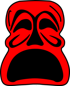 Red Mask Clip Art