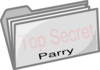 Top Secret Folder (parry) Clip Art