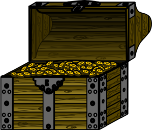 Pirate Treasure Chest With Coins Clip Art