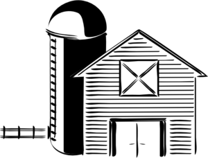 Barn And Silo Clip Art